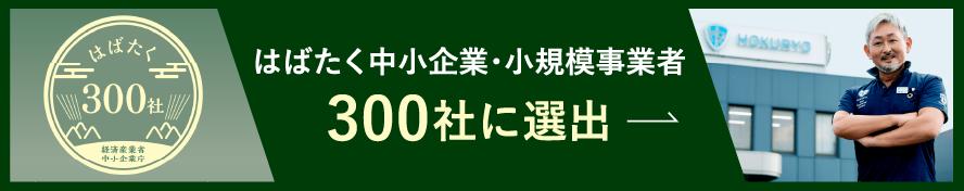 経産省の「はばたく中小企業300社」に選出されました!